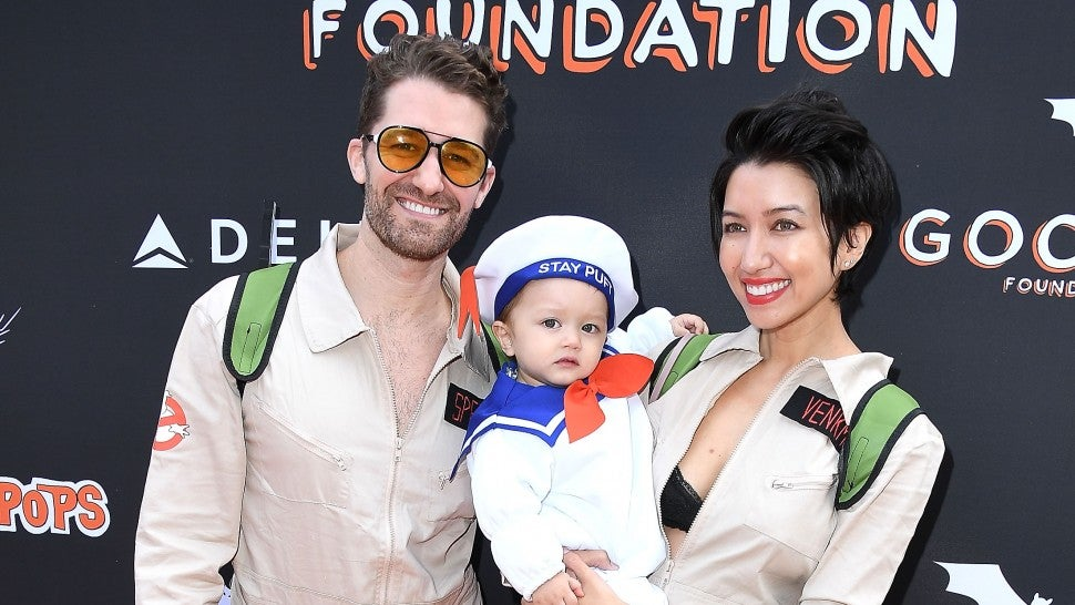 Matthew Morrison and family on halloween