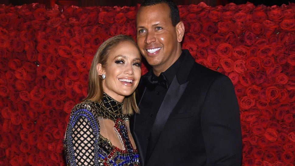 Alex Rodriguez and Jennifer Lopez at the 2018 Met Gala in New York City