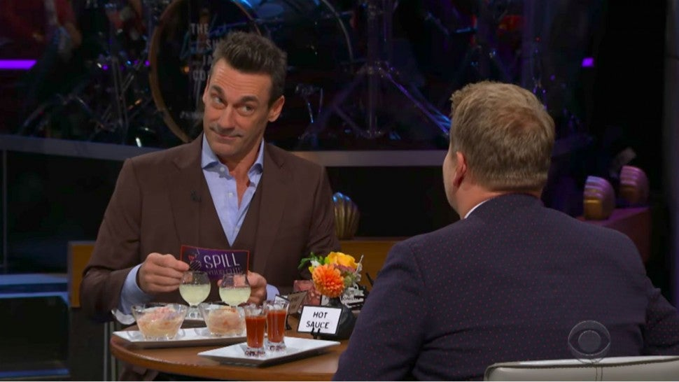 See Jon Hamm's Response When Asked About the Size of His 'Hammaconda' by James Corden