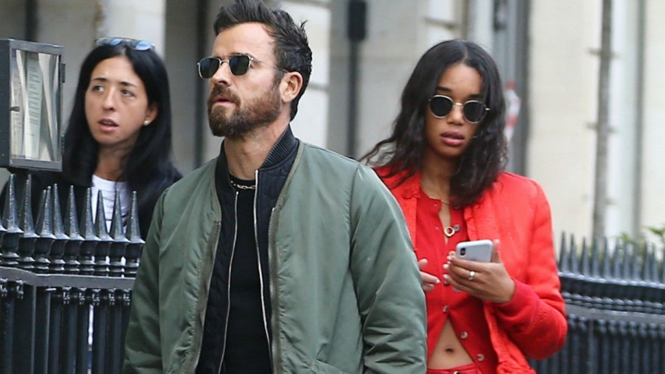 Justin Theroux and Laura Harrier