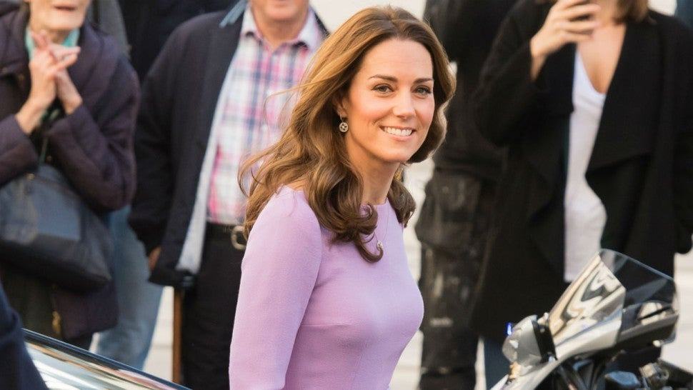 Duchess of Cambridge glows in flowy checkered frock at solo royal engagement