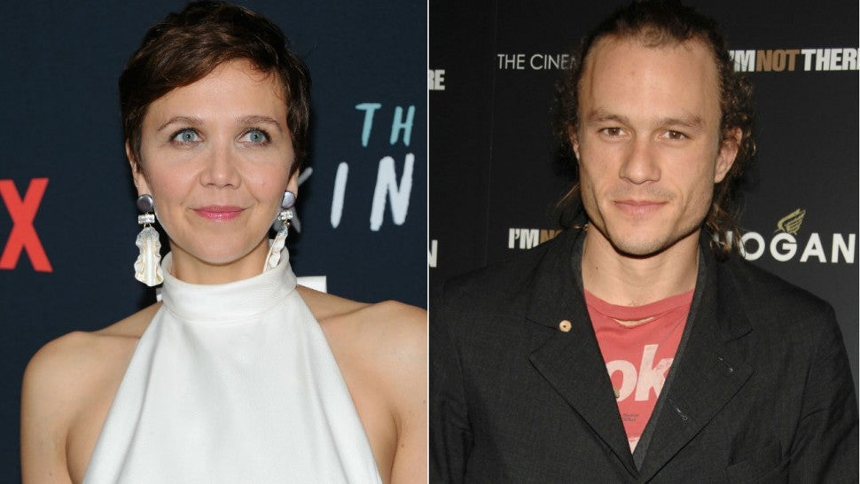 Maggie Gyllenhaal and Heath Ledger