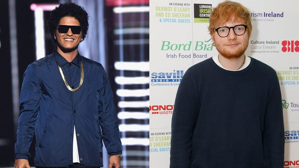 Bruno Mars Hires Ed Sheeran To Sing Him Happy Birthday