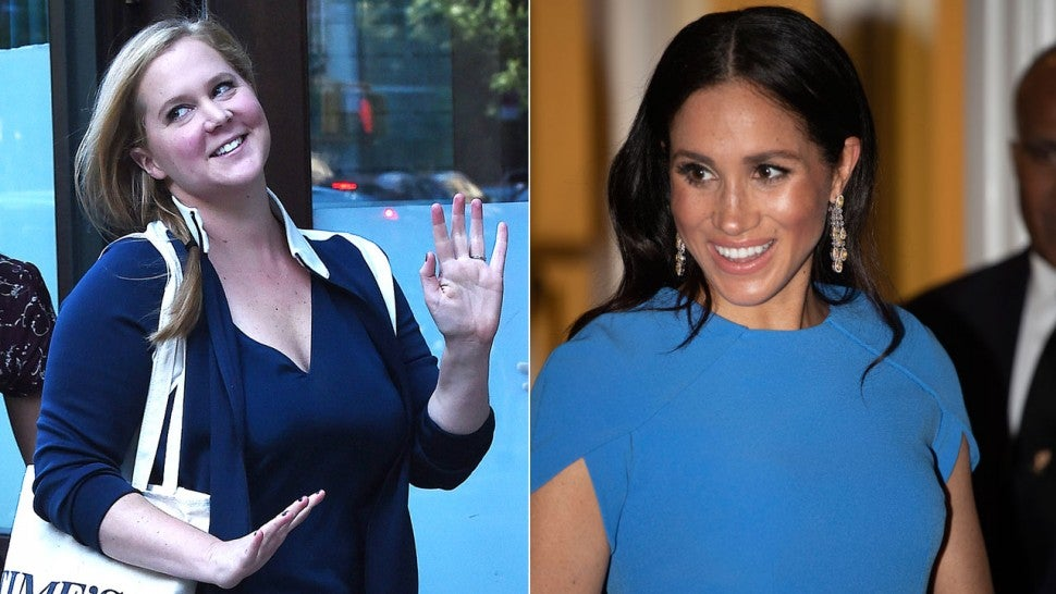Amy Schumer Tries to Play Off Meghan Markle's Pregnancy Style as Her Own