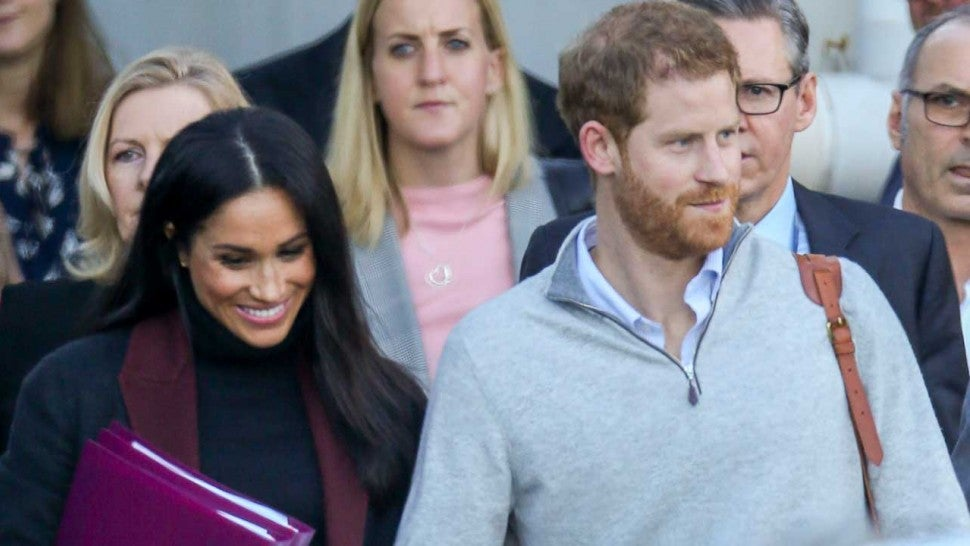 Prince Harry and Meghan Markle,  arrive at Sydney airport ahead of their Royal Tour of Australia on Oct. 14