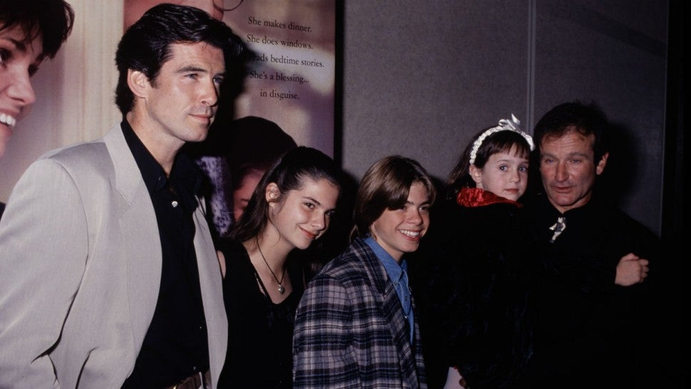 See Pierce Brosnan & the Mrs. Doubtfire Kids' Sweet Reunion