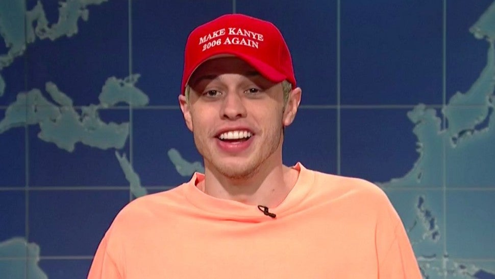 Pete Davidson Bashes Kanye West On 'SNL's' 'Weekend Update'