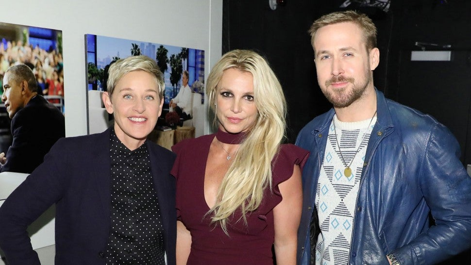 Ellen DeGeneres, Britney Spears and Ryan Gosling