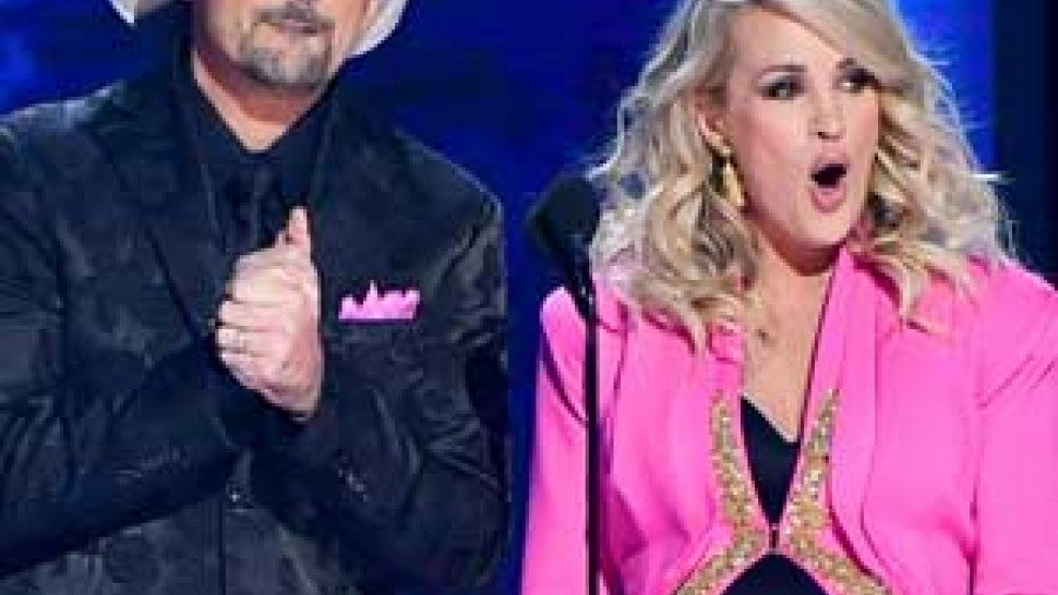 Brad Paisley and Carrie Underwood hosting the 2018 CMA Awards in Nashville, Tennessee