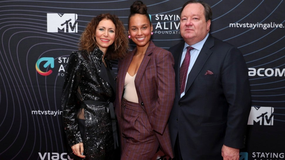 Star Sightings: Alicia Keys Attends MTV's Staying Alive Foundation's 20th Anniversary Gala in New York City