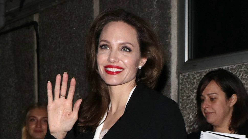 Angelina Jolie arrives at the BFI for the 'Preventing Sexual Violence in Conflict Film Festival' on November 23, 2018 in London, England.