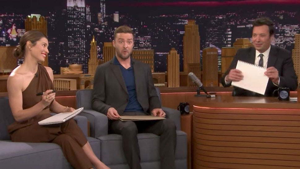 Justin Timberlake Tests Jessica Biel & Jimmy Fallon in the 'Best Friends Challenge'