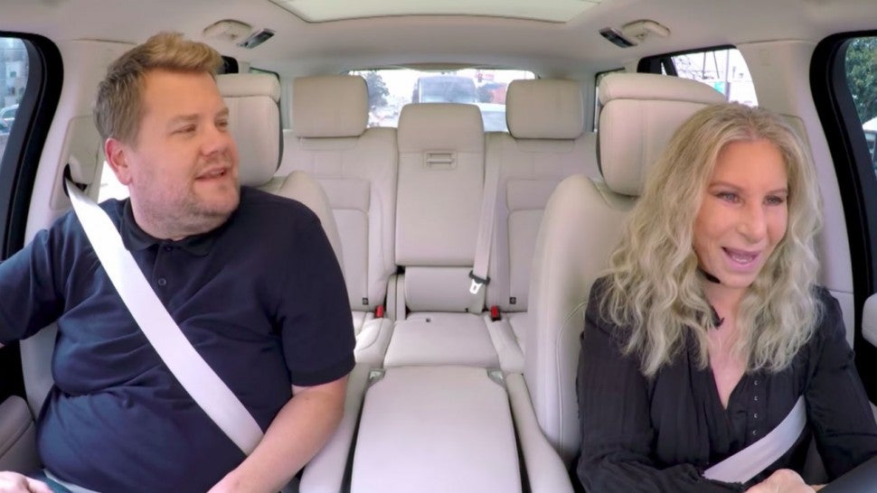 Barbra Streisand's driving on Carpool Karaoke spooks James Corden
