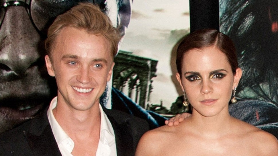 Harry Potter' Stars Emma Watson and Tom Felton Reunite at the Beach