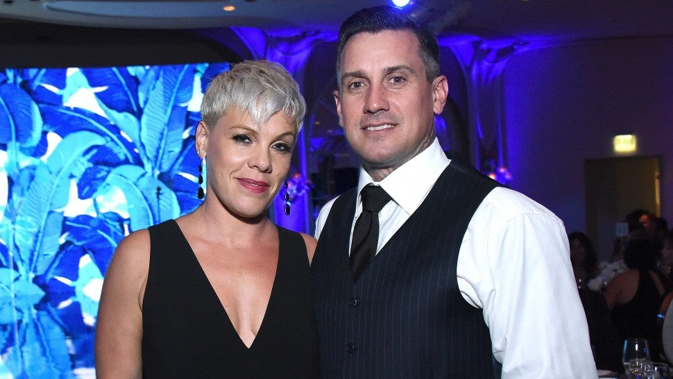 Pink and Carey Hart caught in California wildfire 'looting' terror