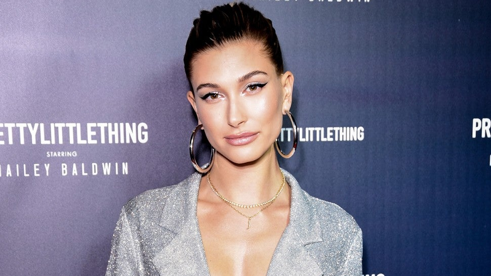 71af914d Hailey Baldwin Sparkles at Her Holiday Collection Launch Party ...