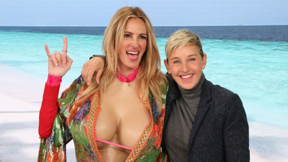 Julia Roberts and Ellen DeGeneres