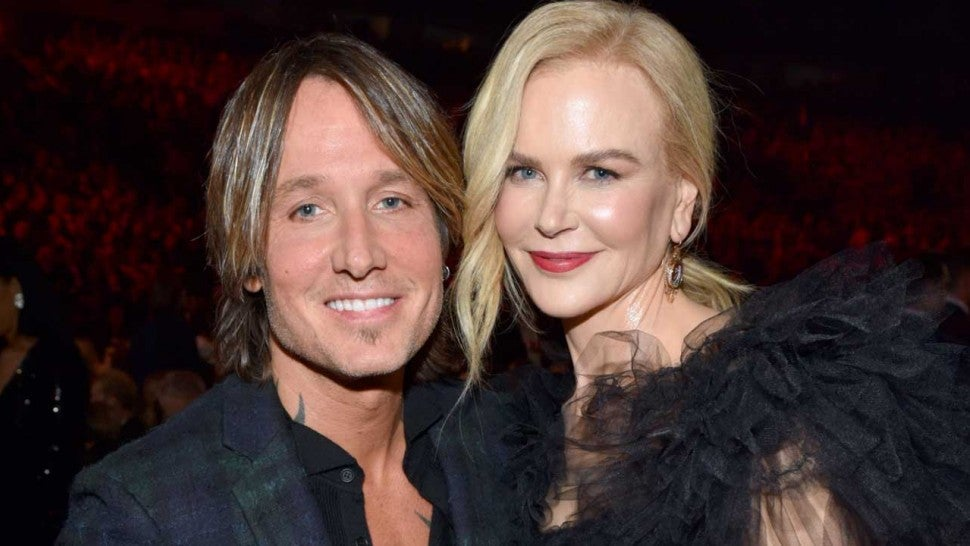 Keith Urban and Nicole Kidman at the 2018 CMA Awards at the Bridgestone Arena in Nashville, Tennessee.