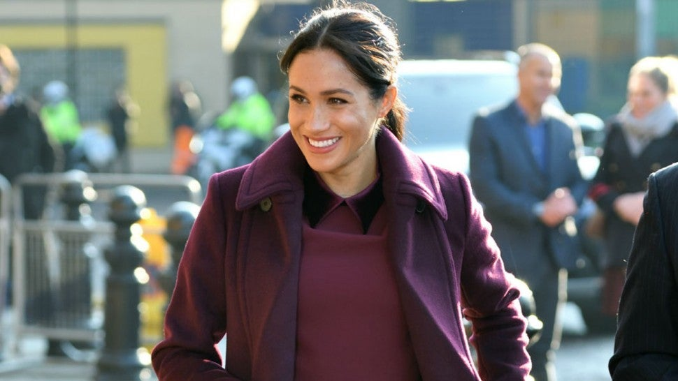 Meghan Markle S Chic Burgundy Coat Is On Sale