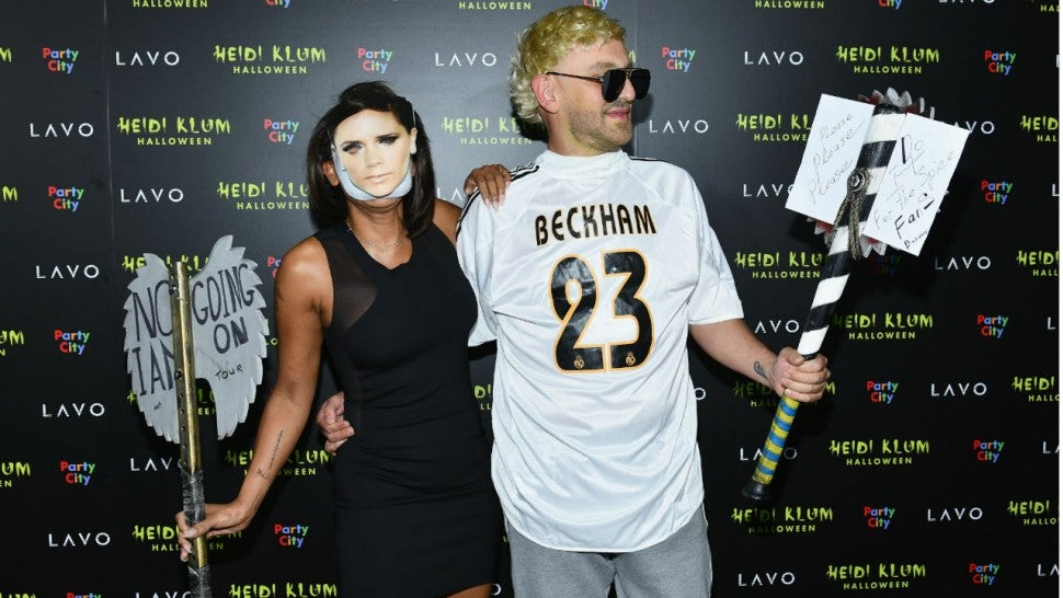 Mel B mocks Victoria Beckham by dressing up as her for Halloween