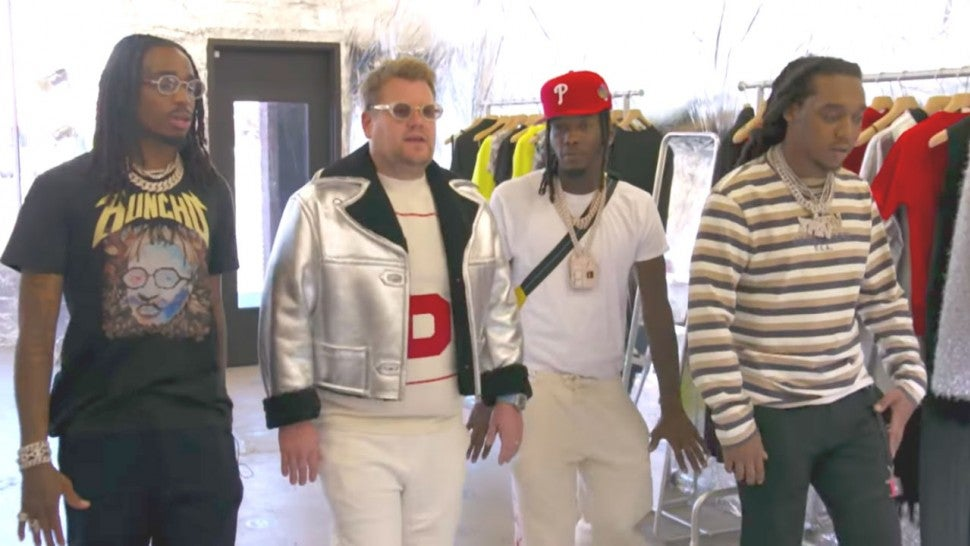 Migos Gives James Corden A Makeover On Carpool Karaoke