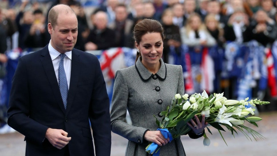 Kate Middleton wears Catherine Walker coat dress on Leicester visit