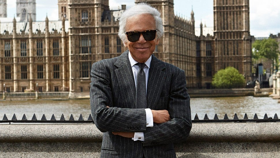 Designer Ralph Lauren Receives Honorary Knighthood From Prince Charles