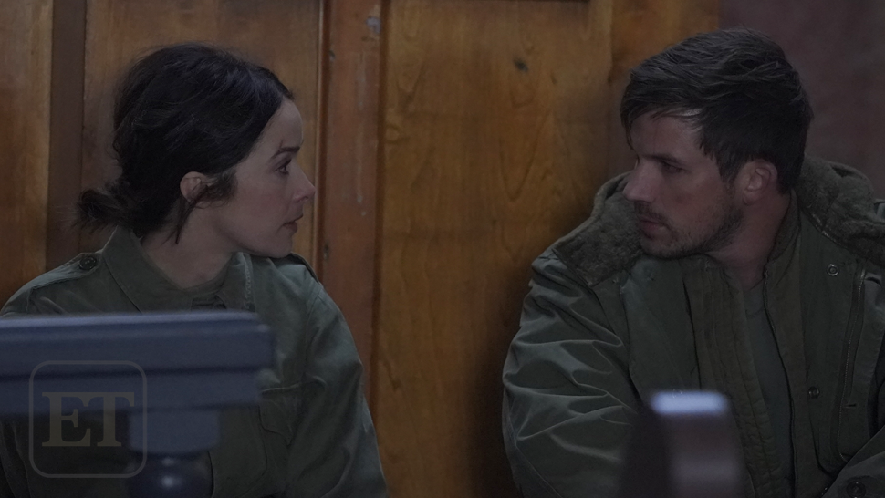 Timeless: Abigail Spencer and Matt Lanter as Lucy and Wyatt
