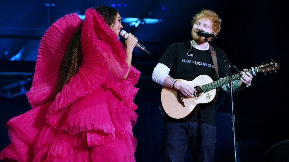 Beyonce and Ed Sheeran Perform 'Perfect' Together at Global Citizen Festival