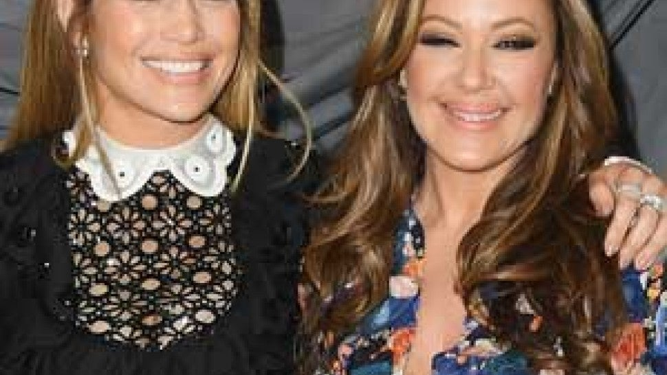 Jennifer Lopez and Leah Remini at a photocall for 'Second Act' in Beverly Hills on Dec. 9