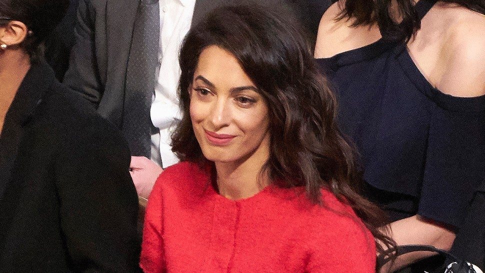 Amal Clooney Is Radiant in Red at Nobel Peace Prize Ceremony