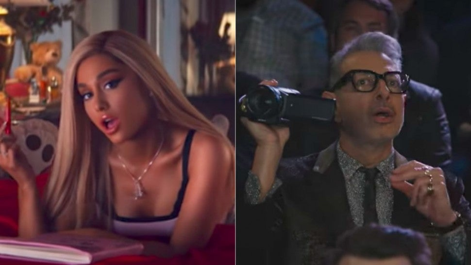 Ariana Grande and Jeff Goldblum