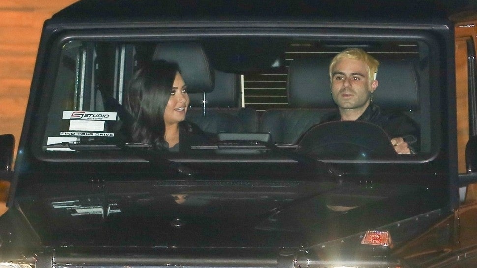 Demi Lovato and Henry Levy out to dinner at Nobu on Dec. 8, 2018.