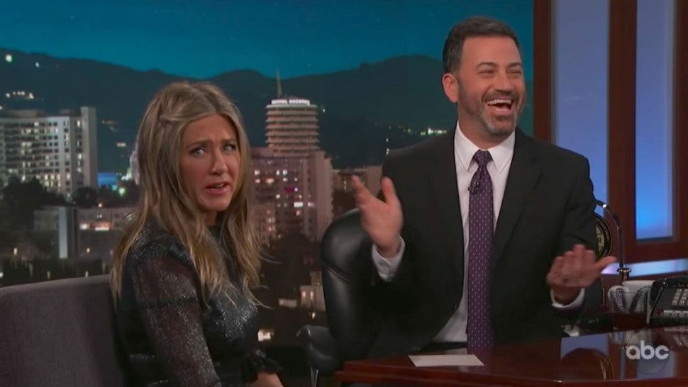 Jennifer Aniston Recalls Jimmy Kimmel's Daughter Pooping in Her Backyard
