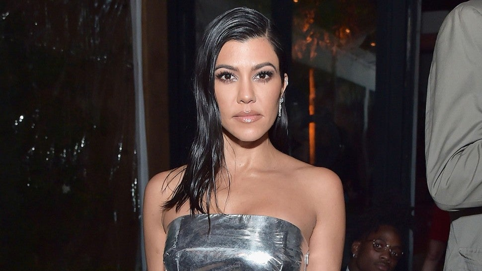 Kourtney Kardashian Shines In Silver See Even More Stunning Looks