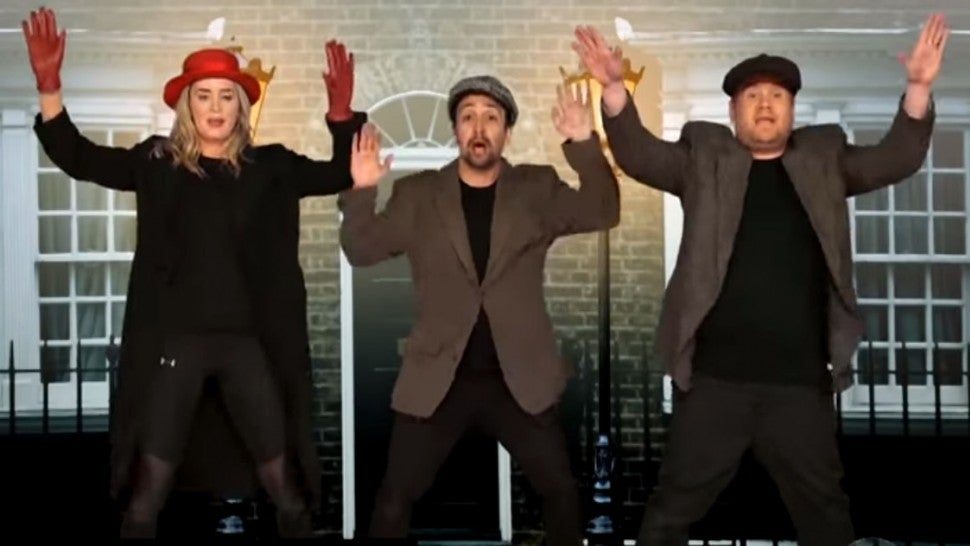 Emily Blunt and Lin Manuel-Miranda perform 22 musicals in 12 minutes