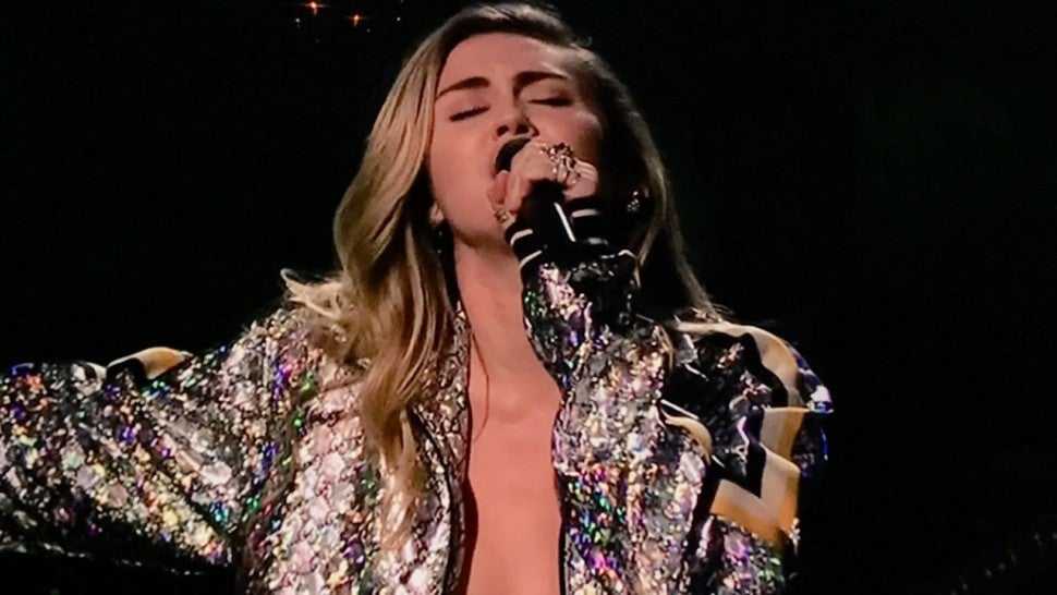 Miley Cyrus Goes Nearly Topless While Performing New Song on 'Saturday Night Live'