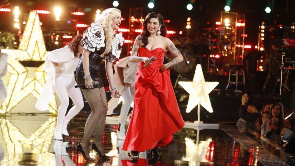 Gwen Stefani and Mon Laferte The Voice