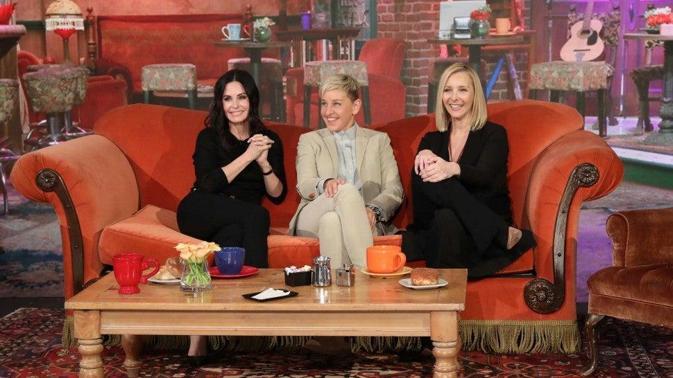Ellen DeGeneres brings back Courteney Cox, Lisa Kudrow for mini-'Friends' reunion