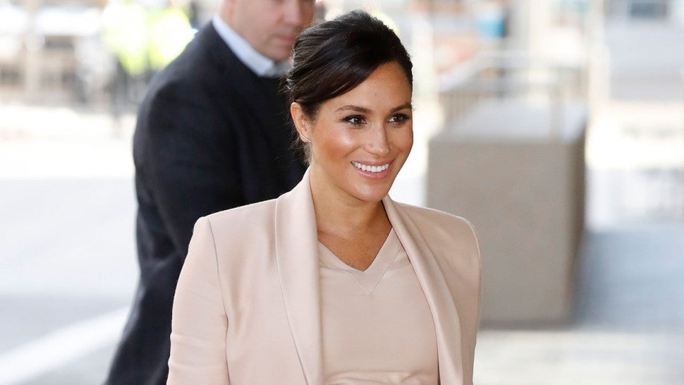 Meghan Markle at national theatre in london