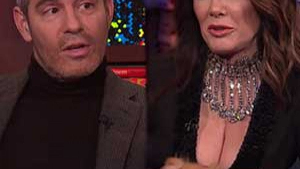 Andy Cohen and Lisa Vanderpump on 'Watch What Happens Live'