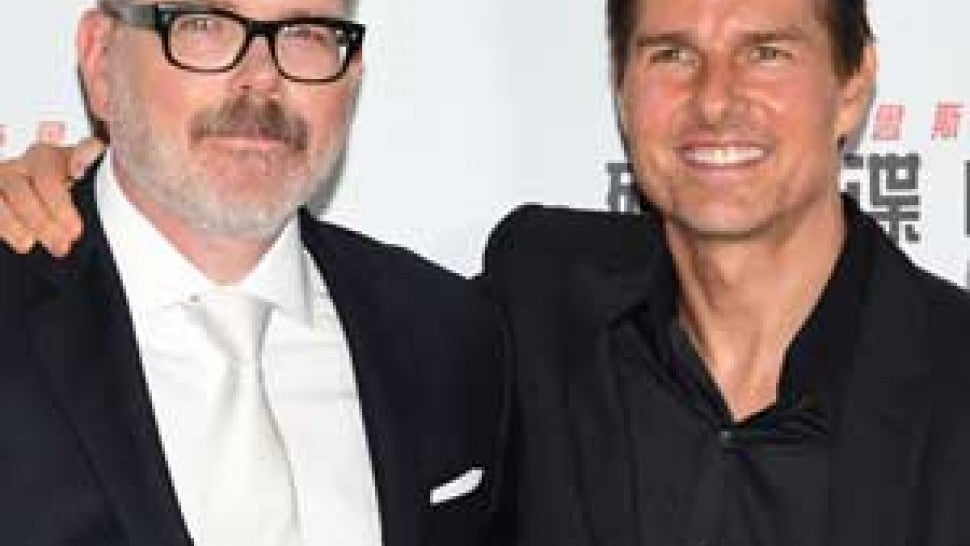 Christopher McQuarrie and Tom Cruise at the Asia premiere of 'Mission:Impossible -- Fallout'