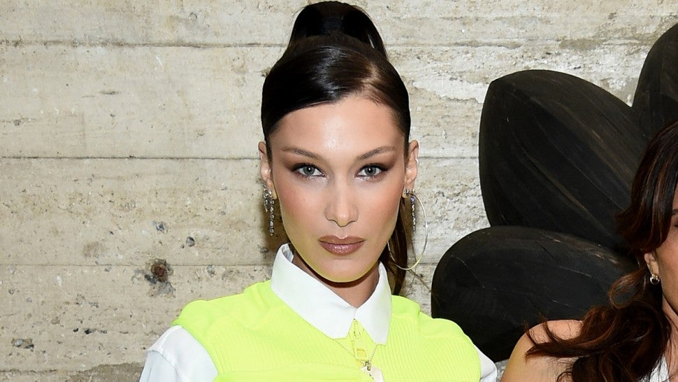 Bella Hadid Rocks a Neon Utility Vest and Dines With Martha Stewart