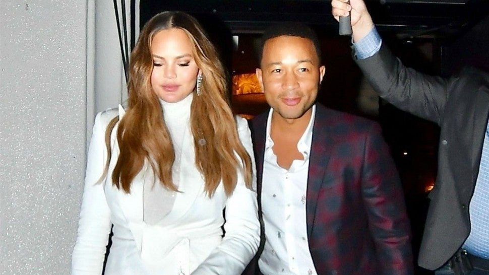 Chrissy Teigen Channels Kim Kardashian in Bicycle Shorts Style for Date Night With John Legend