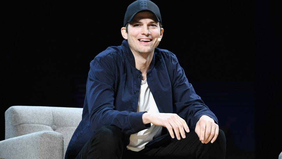 Ashton Kutcher onstage during WeWork Presents Second Annual Creator Global Finals