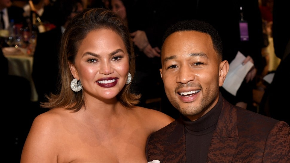 Chrissy Teigen and John Legend at 2019 critics choice awards