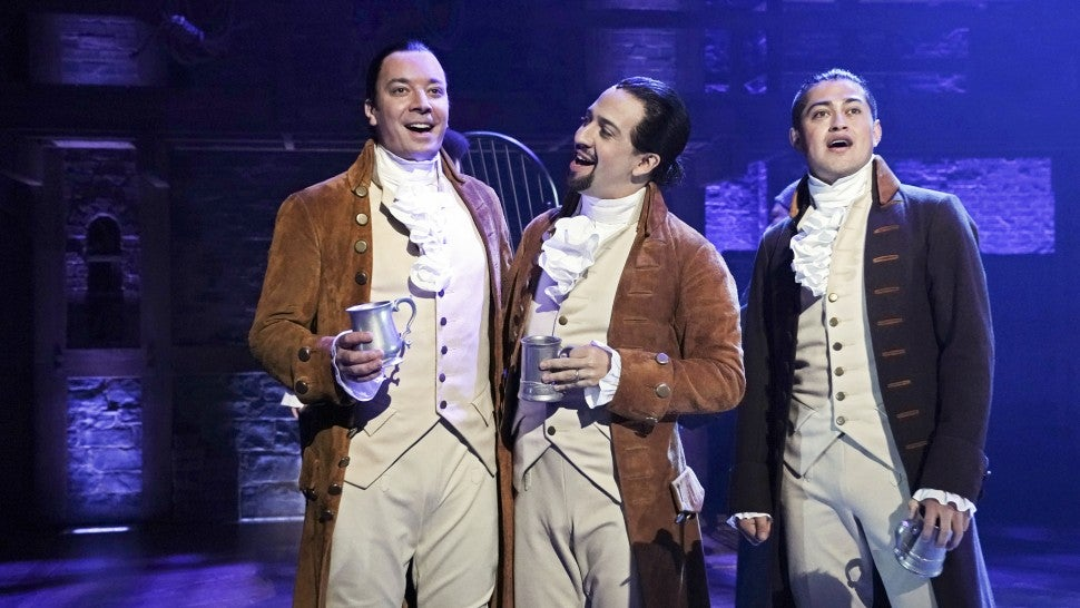 Jimmy Fallon sings with Lin-Manuel Miranda, 'Hamilton' solid