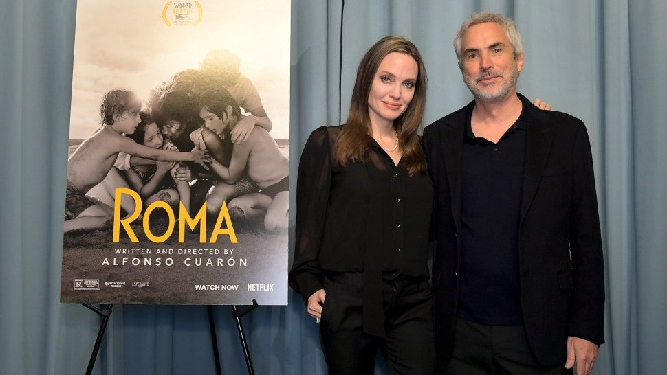 Angelina Jolie Appears At Roma Screening With Director Alfonso