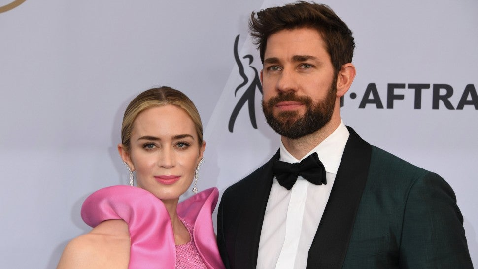 Watch Emily Blunt's emotional tribute to her director husband at the SAGAs