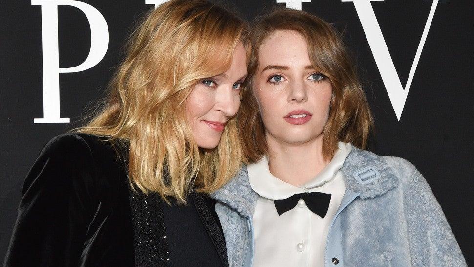 Uma Thurman and Her Lookalike Daughter Maya Hawke are Style Goals at Paris Fashion Week